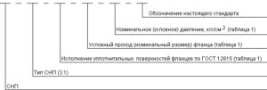 Структура условного обозначения СНП