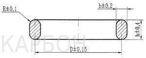 Конструкция и размер овальной прокладки ОСТ 26.260.461-99
